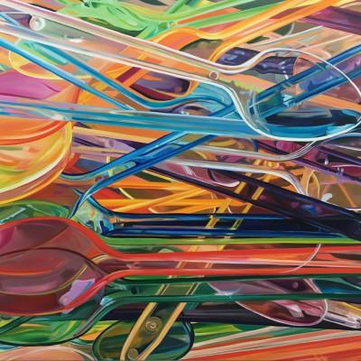 Eislöffel / Öl auf Leinwand / 130 x 180 cm / 2018 / verkauft