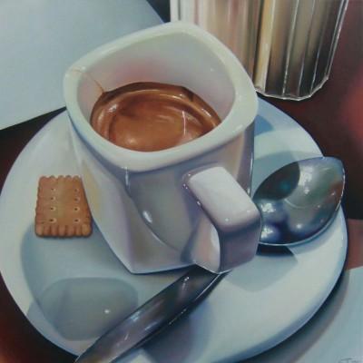 Espresso und Butterkeks / Öl auf Leinwand / 50 x 50 cm / 2015
