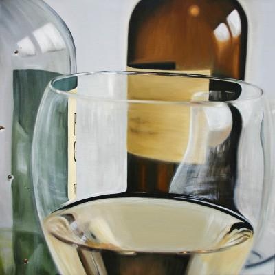 Glas 4 / Öl auf Leinwand / 50 x 50 cm / 2006