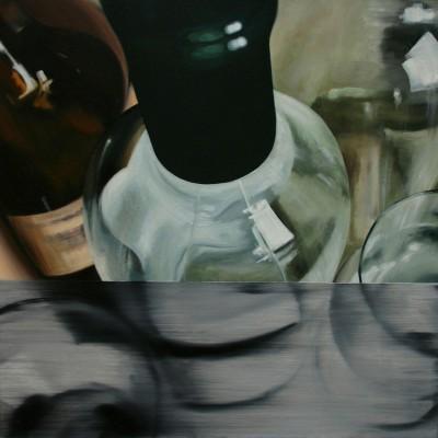 Glas 5 / Öl auf Leinwand / 50 x 50 cm / 2006