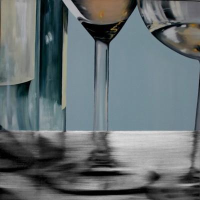 Glas 7 / Öl auf Leinwand / 50 x 50 cm / 2006