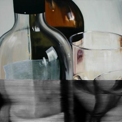 Glas 9 / Öl auf Leinwand / 50 x 50 cm / 2006