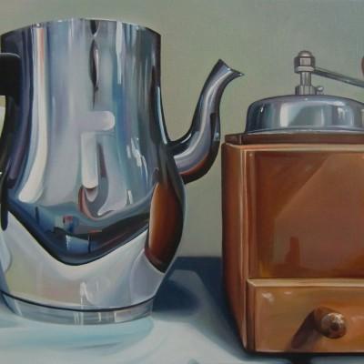 Kaffeemühle / Öl u. Acryl auf Leinwand / 40 x 50 cm / 2015