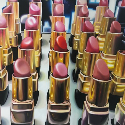 London lipsticks / Öl auf Leinwand / 100 x 140 cm / 2018 / verkauft