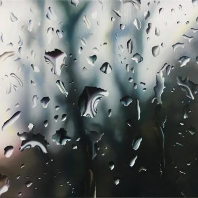 Regen / Öl auf Leinwand / 40 x 50 cm / 2018