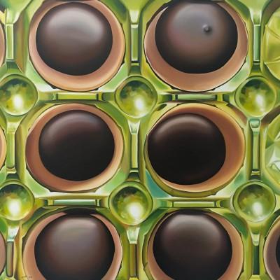Toffifee VI / Öl auf Leinwand / 70 x 100 cm / 2018 / verkauft