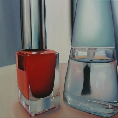 le vernis rouge / Öl auf Leinwand / 40 x 50 cm / 2015