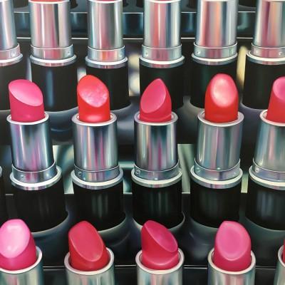 lipsticks Ehrenstraße / Öl auf Leinwand / 160 x 120 cm / 2017 / verkauft