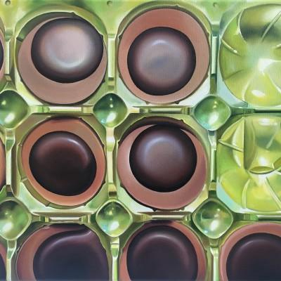 Toffifee / Öl auf Leinwand / 40 x 50 cm / 2016 / verkauft