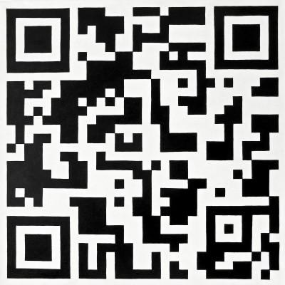 Komposition in schwarzweiß I / Öl auf Leinwand / 50 x 50 cm / 2013