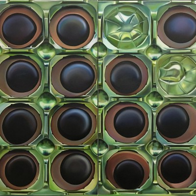 Toffifee Diptychon / Öl auf Leinwand / 120 x 200 cm / 2016