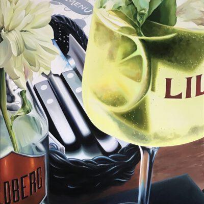 Ehrenfeld, la dolce vita / Öl auf Leinwand / 100 x 80 cm / 2021
