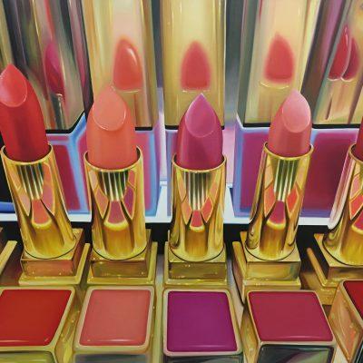 Stockholm lipsticks / Öl auf Leinwand / 100 x 140 cm / 2019 / verkauft