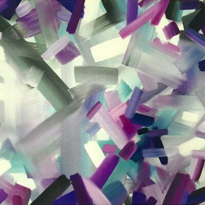 Kaleidoskop 01 / Öl auf Leinwand / 50 x 70 cm / 2021